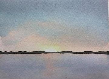 水彩畫練習