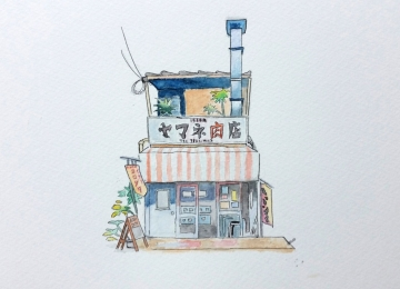 水彩專題練習 - 日本特色小店